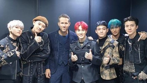 EXO and Ryan Reynolds form one epic supergroup as K-pop stars attend 6 Underground screening
