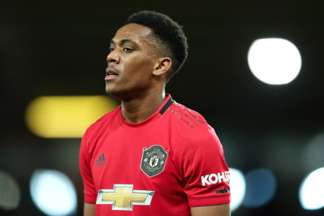Anthony Martial is an injury doubt for Manchester United's clash against Tottenham