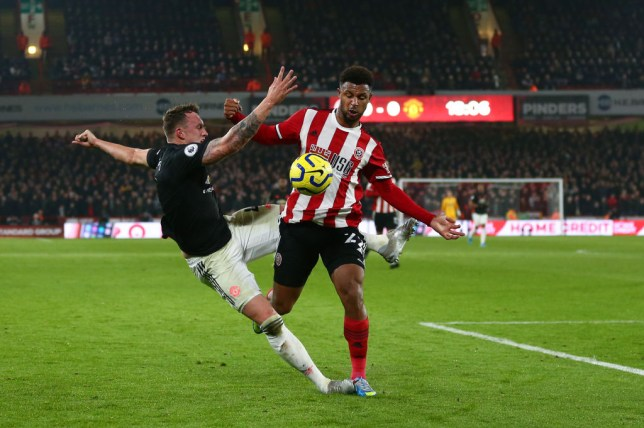 Phil Jones during his disastrous performance in Manchester United's draw at Sheffield United