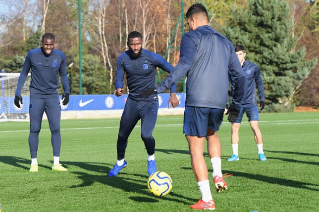 Antonio Rudiger in Chelsea training at the end of November