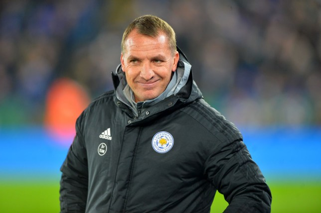 Arsenal target Brendan Rodgers smiles after Leicester beat Everton