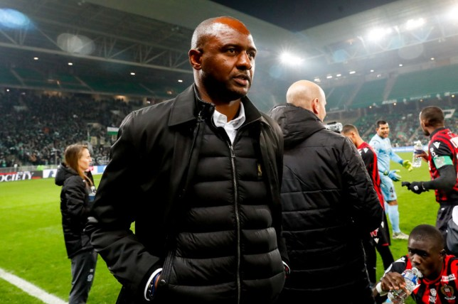 Arsenal managerial target Patrick Vieira walks along the touchline