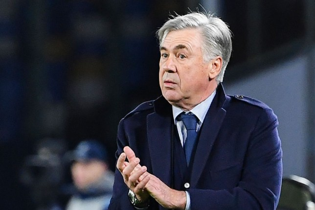 Carlo Ancelotti applauds his players from the touchline