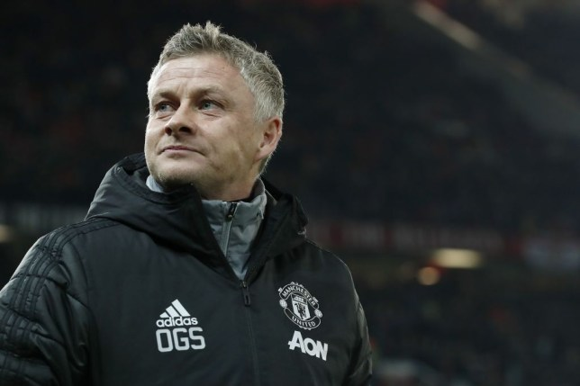 Manchester United boss Ole Gunnar Solskjaer is pictured on the touchline before a game