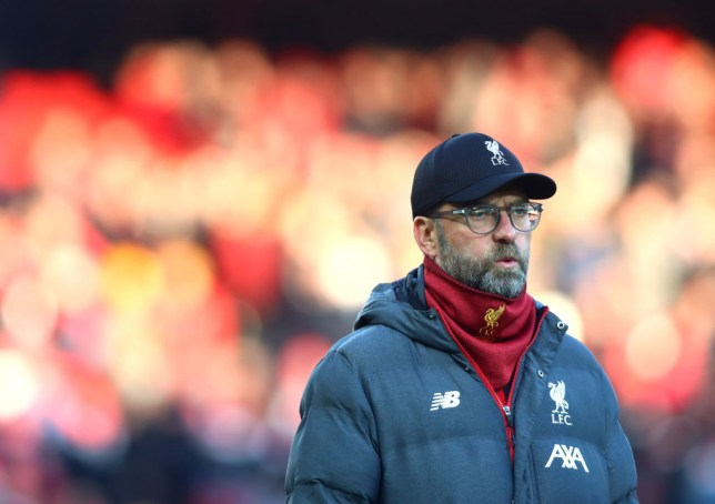 Jurgen Klopp is pictured on the touchline during a Liverpool game