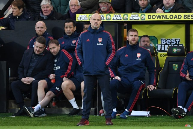 Freddie Ljungberg took charge of Arsenal for the first time at Norwich