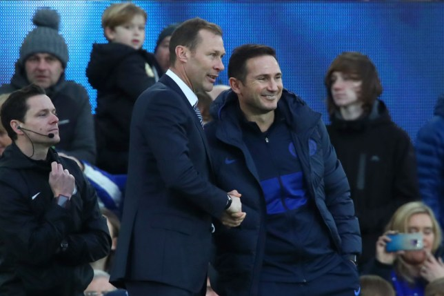 Chelsea boss Frank Lampard and Duncan Ferguson