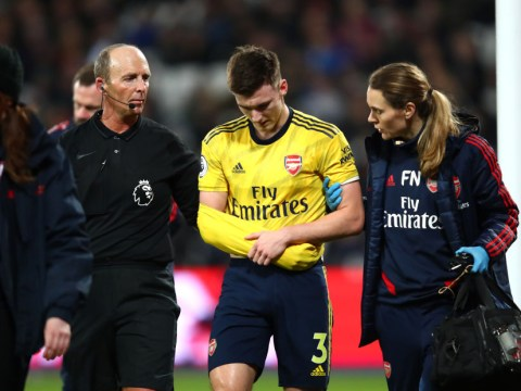 Arsenal's Kieran Tierney expected to miss three months with dislocated shoulder
