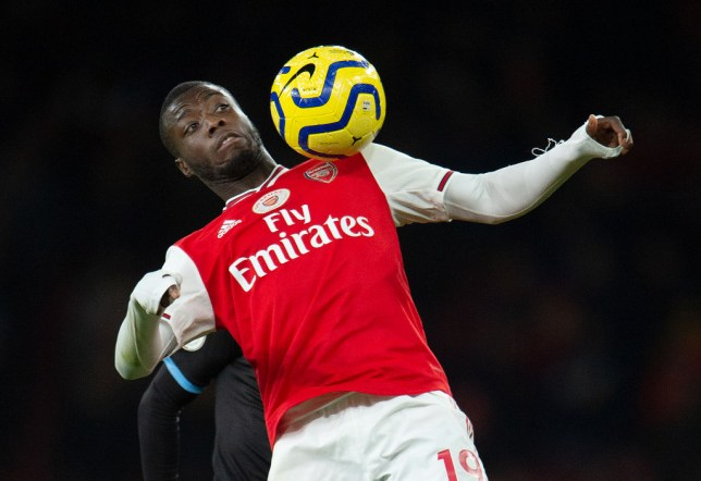 Nicolas Pepe has started Arsenal's last two matches on the substitutes' bench