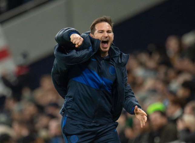 Frank Lampard employed a 3-4-3 formation against Tottenham on Sunday