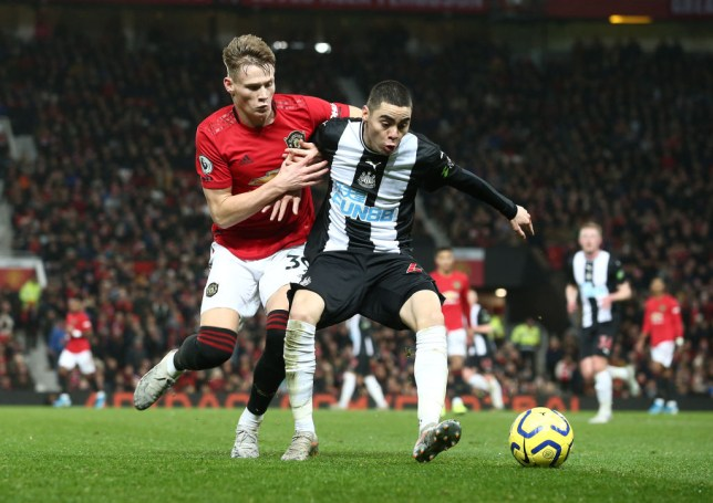 Scott McTominay injured his knee in Manchester United's victory over Newcastle
