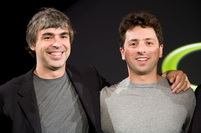 Larry Page (L) and Sergey Brin (R) met at Stanford and co-founded Google (Photo by James Leynse/Corbis via Getty Images)