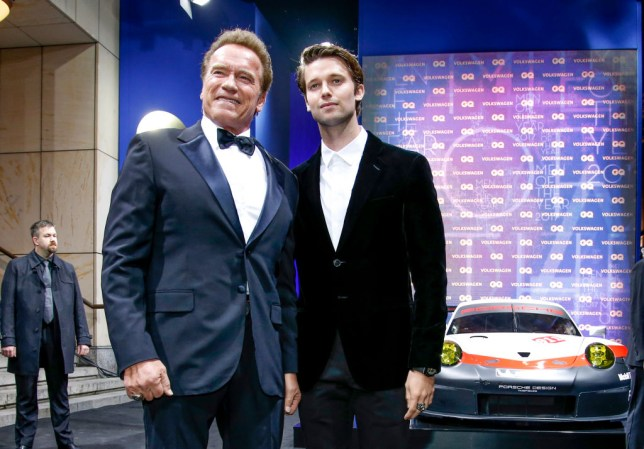 Arnold Schwarzenegger and his son Patrick Schwarzenegger