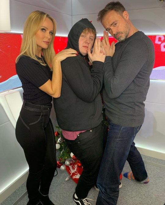 Lewis Capaldi with Amanda Holden and Jamie Theakston