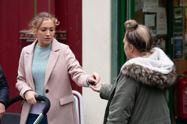 Karen Taylor and Louise Mitchell in EastEnders