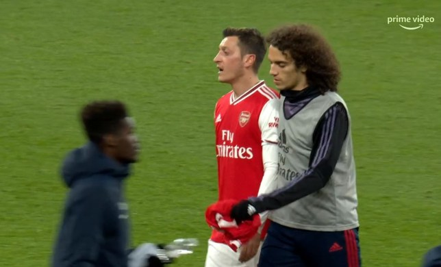 Mesut Ozil was fuming after Arsenal's defeat to Brighton