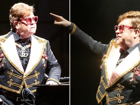 Elton John drops C-bomb and tells security to 'f**k off' in mid-concert outburst as they 'manhandle' fans