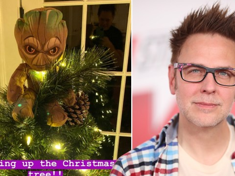 Guardians Of The Galaxy's Groot gets pride of place on top of James Gunn's Christmas tree