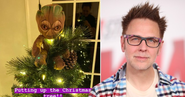 James Gunn and Groot