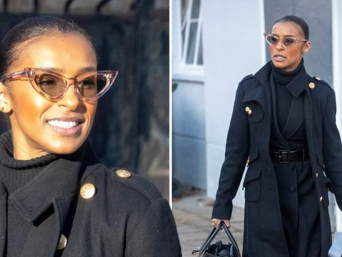 Melody Thornton seen for first time with big grin and Deliveroo package after Pussycat Dolls comeback