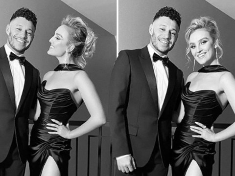 Little Mix's Perrie Edwards looks ridiculously loved-up with boyfriend Alex Oxlade-Chamberlain