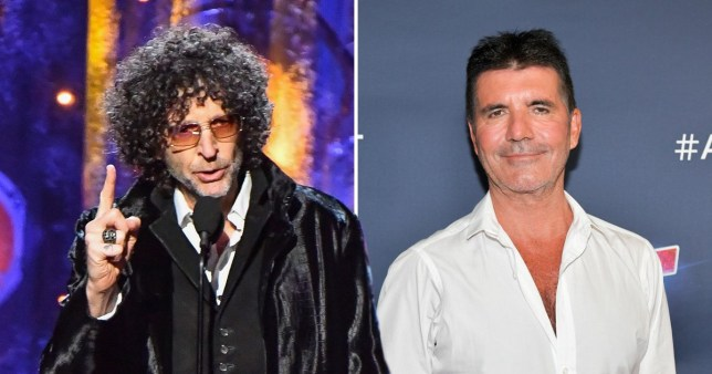 Howard Stern and Simon Cowell