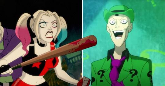 Kaley Cuoco?s Harley Quinn gets her Riddler