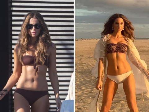 We'll take Kate Beckinsale's abs as she rocks bikini after clapping back at troll saying she's 'looking for attention'
