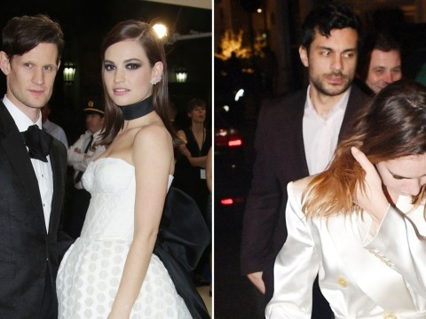 Lily James leaves Fashion Awards with actor Max Ianeselli amid 'split' from Matt Smith