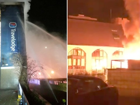 Fire rips through Travelodge Brentford sparking evacuation of guests