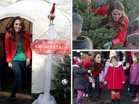 Kate surprises children at Christmas tree farm to mark new job