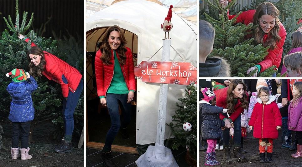 Kate Middleton Family Action Christmas tree farm visit