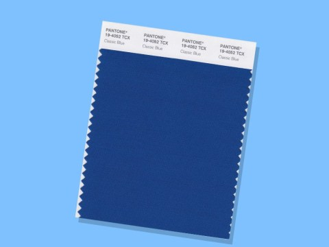 Pantone's colour of the year for 2020 is Classic Blue