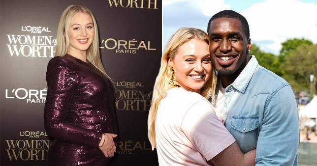 Pregnant Iskra Lawrence glowing as she shows off baby bump