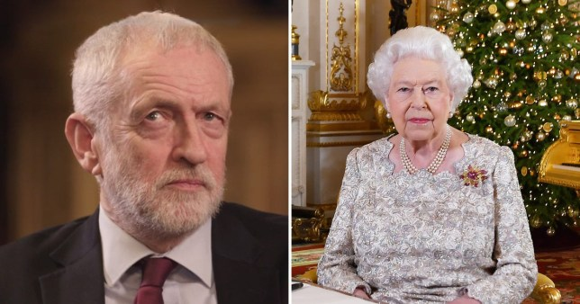 Jeremy Corbyn has been accused of lying about watching the Queen's speech on Christmas day (Picture: ITV/PA)