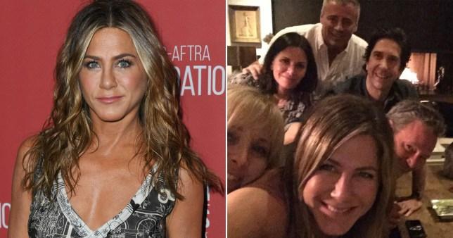 Jennifer Aniston and Friends cast