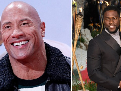 Dwayne 'The Rock' Johnson and Kevin Hart show off terrible English accents at Jumanji premiere and we have some questions