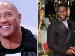 The Rock and Kevin Hart show off terrible English accents at Jumanji premiere