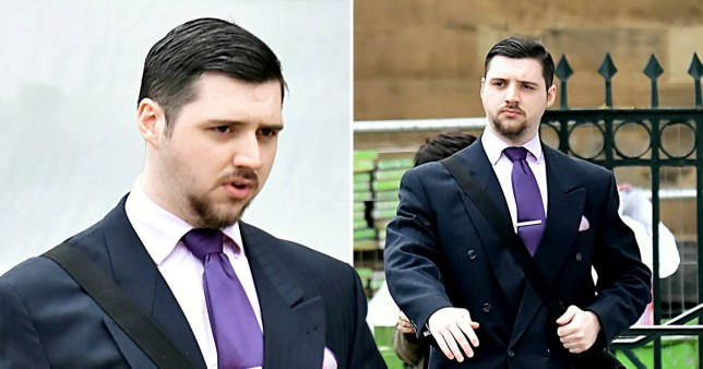 "Caption: Louis Duxbury at York Crown Court. A racist student who posted a video on Facebook saying Muslims should be ""wiped off the face of the earth\"" will be jailed next week"