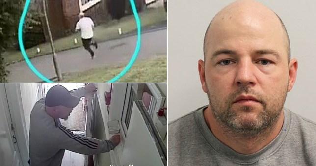 CCTV of serial rapist Joseph McCann and mugshot