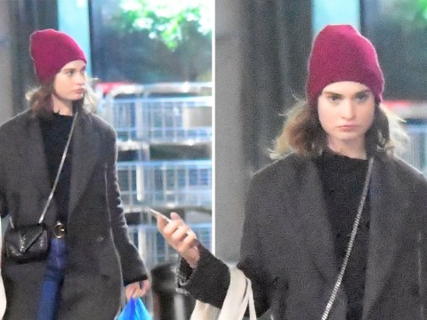 Lily James ignores Matt Smith split rumours as she hits shops in London