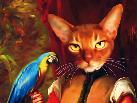 Please enjoy these imagined fancy cats dressed in the finest attire