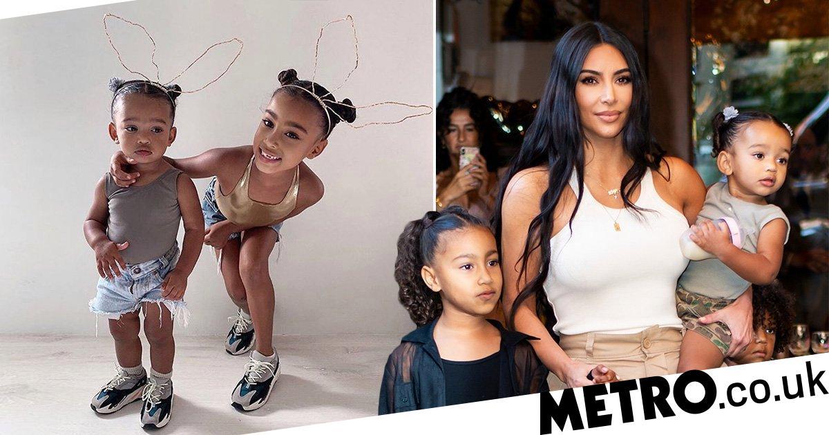 Kim Kardashian S Daughters North And Chicago Are Christmas