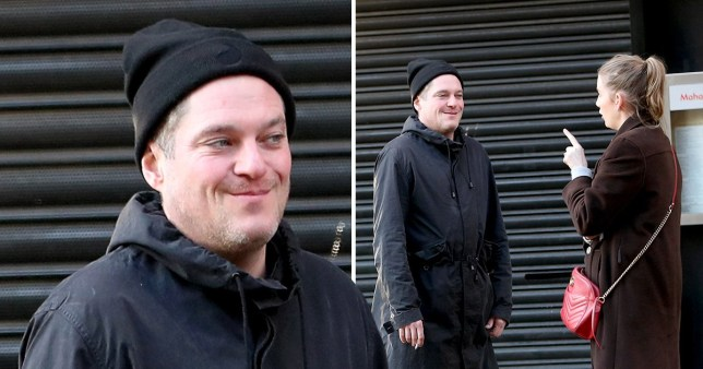 Mathew Horne leaving Global Radio studios in Leicester Square