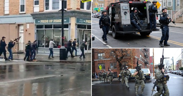 Photos of police storming bodega in Jersey City after shootout killed one police officer and injured three other people