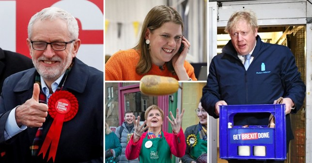 The leaders made one final push for votes before polls open tomorrow (Picture: Reuters; PA)