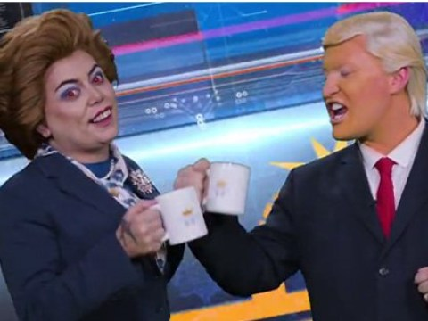 RuPaul's Drag Race UK's The Vivienne and Baga Chipz reprise Snatch Game characters Thatcher and Trump