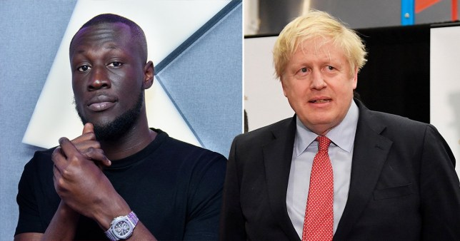 Stormzy Boris Johnson