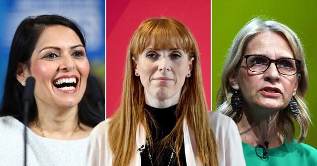 Priti Patel, Angela Rayner and Wera Hobhouse