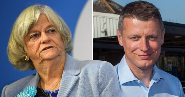 Brexit Party MEP Ann Widdecombe and Labour MP for Plymouth and Sutton Devonport Luke Pollard